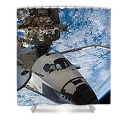 Space Shuttle Endeavour, Docked Shower Curtain