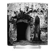 Spanish Fort Doorway Shower Curtain