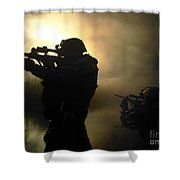 Special Operation Forces Combat Divers Shower Curtain