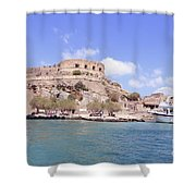 Spinalonga Greece Shower Curtain