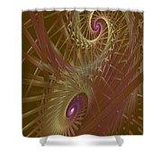 Spiral Maze  Shower Curtain