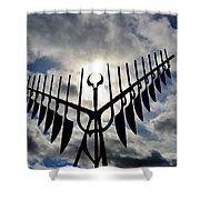 Spirit Catcher Against The Sky  Shower Curtain