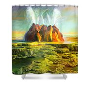 Spitting-fly Geyser In Nevada Shower Curtain