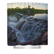 Split Rock Sunset Panorama Shower Curtain