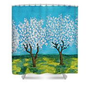 Spring Garden, Painting Shower Curtain
