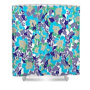 Spring Summer Flowers In Vintage Style. Seasons Floral Pattern Shower Curtain