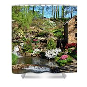 Springtime At The Old Mill Shower Curtain
