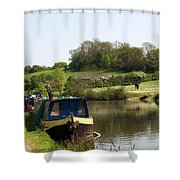 Springtime By The Canal Shower Curtain