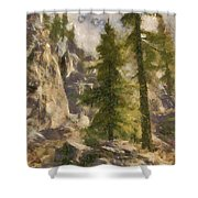 Spruce Shower Curtain