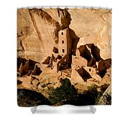 Square Tower Ruin Shower Curtain