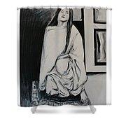 Sri Anandamayi Ma Shower Curtain