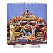 Sri Krishnan Temple Shower Curtain