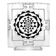 Sri Yantra Shower Curtain