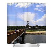St Augustine Light On The Atlantic Coast Of Florida Shower Curtain