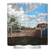 St. Isaac's Square Shower Curtain