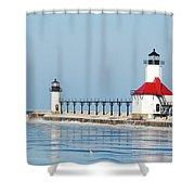 St Joseph North Pier Lights Shower Curtain