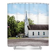 St. Margaret Catholic Church - Springfield Louisiana Shower Curtain
