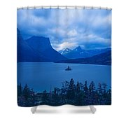 St. Mary Lake, Glacier National Park Shower Curtain