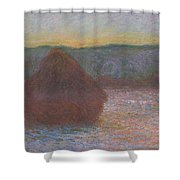 Stack Of Wheat, Thaw, Sunset Shower Curtain