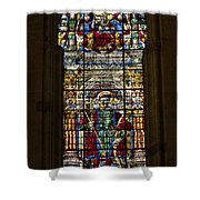 Stained Glass - Cathedral Of Seville - Seville Spain Shower Curtain