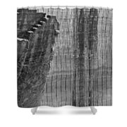 Stairway To No Were - Lime Stone Quarry Lithica In Minorca Shower Curtain