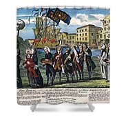 Stamp Act: Repeal, 1766 Shower Curtain