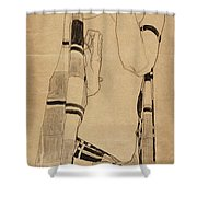 Standing Girl Shower Curtain