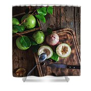 Star Apple Fruits Shower Curtain