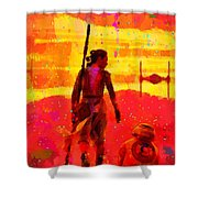 Star Wars 8 Last Jedi - Pa Shower Curtain