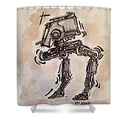 Star Wars At-st Shower Curtain