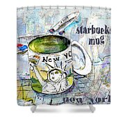 Starbucks Mug New York Shower Curtain