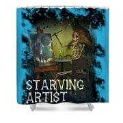 Starving Artist Shower Curtain