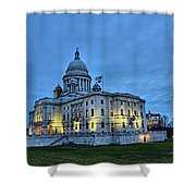 State House Night Shower Curtain