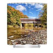 State Road Covered Bridge Shower Curtain