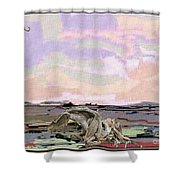 Statue Of A Horse From Branches Shower Curtain