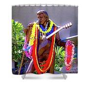 Statue Of, Elvis Presley - Honolulu, Hawaii  Shower Curtain