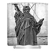 Statue Of Liberty, 1886 Shower Curtain