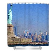 Statue Of Liberty, Nyc Shower Curtain