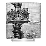 Statue Of Liberty: Torch Shower Curtain