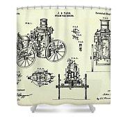 Steam Fire Engine-1896 Shower Curtain