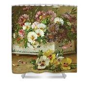 Still Life Of Flowers Shower Curtain