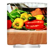 Still Life - Vegetables Shower Curtain