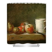 Still Life With A White Mug Shower Curtain