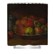 Still Life With Apples And A Pomegranate Shower Curtain