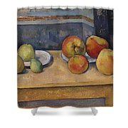 Still Life With Apples And Pears Shower Curtain