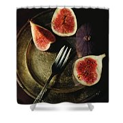 Still Life With Fresh Figs Shower Curtain