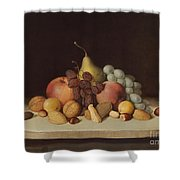 Still Life With Fruit And Nuts Shower Curtain