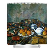 Still Life With Teapot Shower Curtain