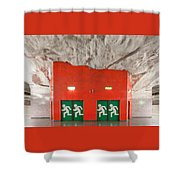 Stockholm Metro Art Collection - 005 Shower Curtain