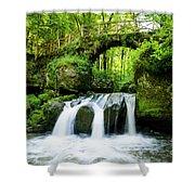 Stone Bridge Over River Shower Curtain